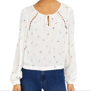 Tops - Floral Print Blouse Large